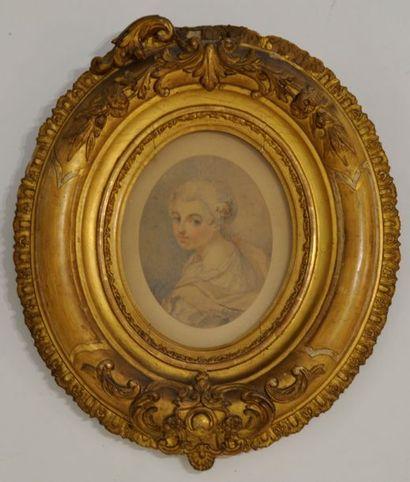 Ecole française du XVIIIème siècle  Miniature...