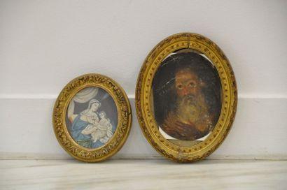 Ecole française du XIXe siècle  Miniature...