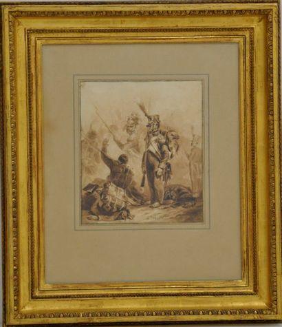 Auguste Denis RAFFET (1804/1860)  Sur le...
