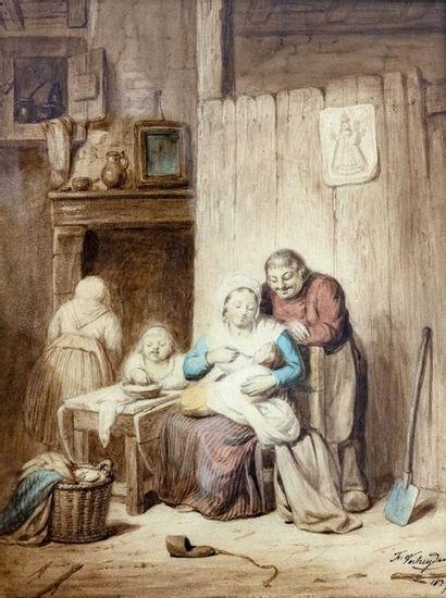 François VERHEYDEN (1806-1889)  Le déjeuner...