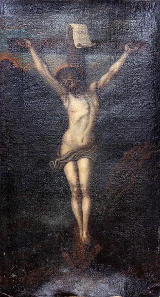 Ecole française XIXème siècle  Crucifixion...