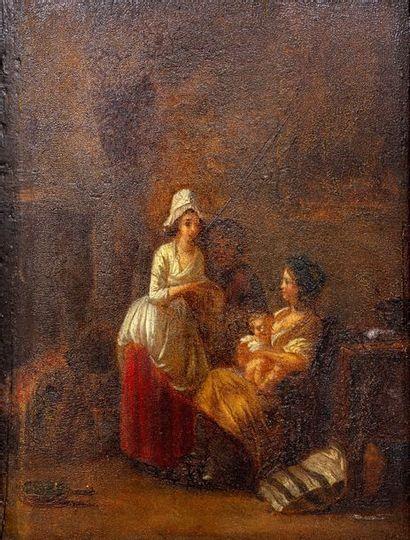 Ecole FRANCAISE du XIXe, suiveur de Marc-Antoine...