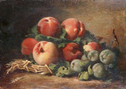 Hippolyte ROUX (1852 - ?)  Nature morte aux...