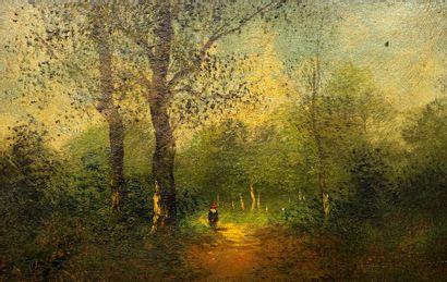Gilbert (XIX-XXème)  Jeune fille sur le chemin...