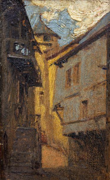 Suiveur d'Eugène Isabey (1804-1886)  Vue...