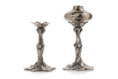 Victor SAGLIER (1809 - 1894)  Paire de lampe...