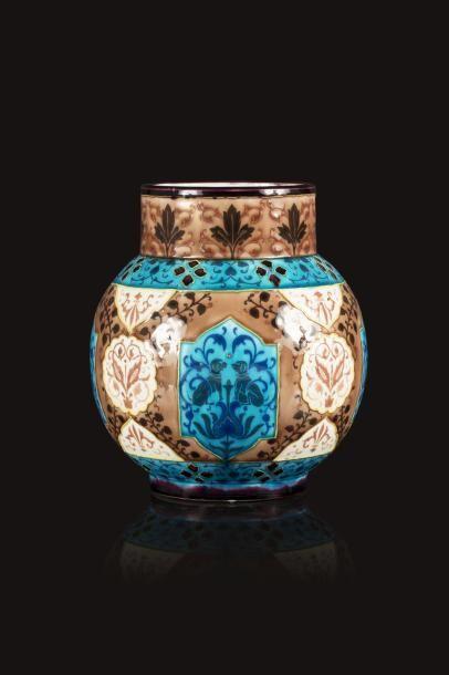 Jules VIEILLARD, attribué à  Vase boule à...