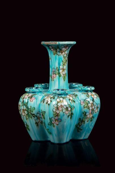Edmond LACHENAL (1855- 1948 )  Vase pique...