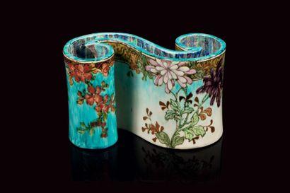 Edmond LACHENAL (1855- 1948)  Vase de forme...