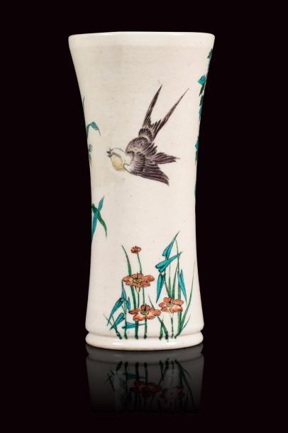 Théodore DECK (1823 - 1891)  Vase cornet...