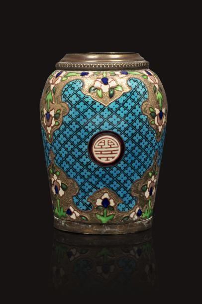 Jules VIEILLARD, attribué à  Vase forme ovoïde...