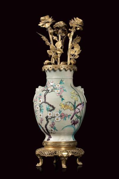 Théodore DECK (1823 - 1891)  Importante lampe...