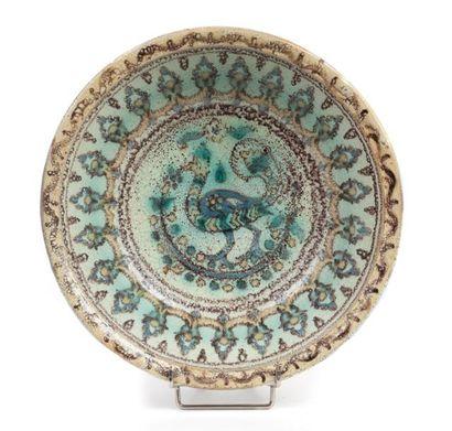 Tunisie, DEVERCLOS Plat creux en céramique...
