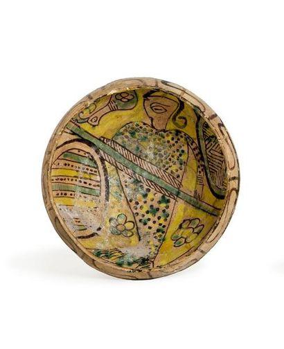 Iran, 10-11e siècle.  Bol de Nishapur du...