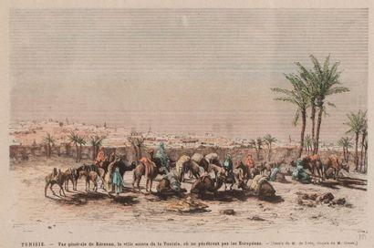 """""""Tunisie. - Vue générale de Kérouan, la ville sainte de Tunisie, où ne pénètrent..."""