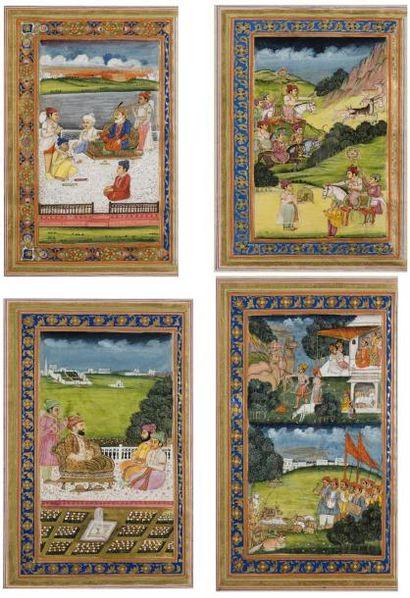 Inde, premier quart du XVIIIe siècle  Ensemble...