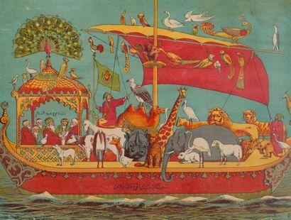 L'arche de Noë  Image chromolithographique,...