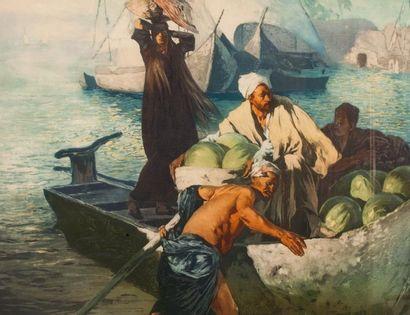 Ludwig DEUTSCH (1855 - 1935)  Les marchands...