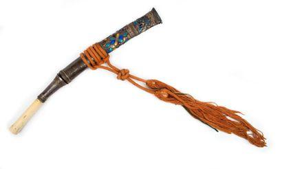 Asie du Sud-Est, Birmanie, fin du XIXe siècle  Ensemble de quatre couteaux DHA à...
