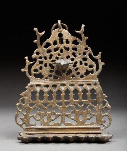 Afrique du Nord, 19e siècle.  Lampe de Hanoukkah...