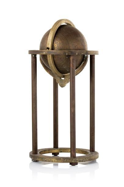 Inde ou Iran, XXe siècle.  Globe céleste...