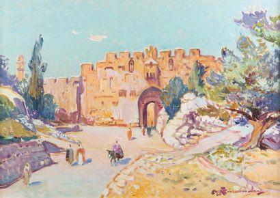 Martin LINDENAU (Né en 1948)  Jérusalem,...