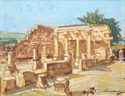 Martin LINDENAU (Né en 1948)   La synagogue...