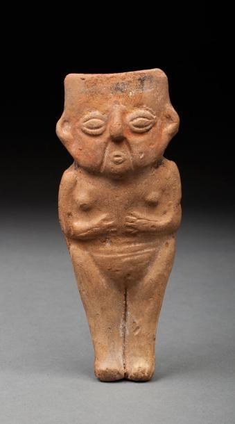 Statuette anthropomorphe féminine  Terre...