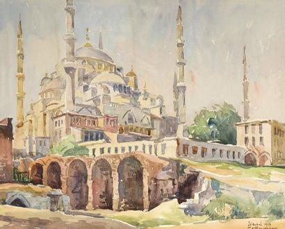 Ecole ALLEMANDE du Xxème siècle  Istambul,...