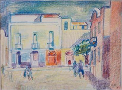 Henri SAADA (Gabès 1906- Paris 1976)  Place...