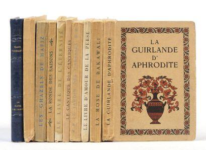 Ensemble de 9 ouvrages de Franz Toussaint:...
