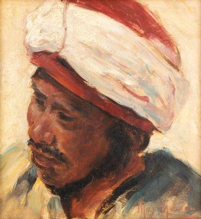 Max MOREAU (Soignies 1902-1992)  Portrait...