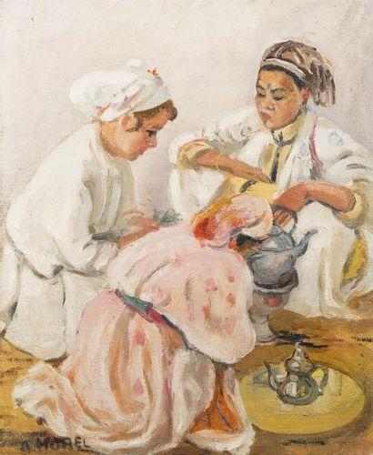Albert HOREL (Aubevoye 1876 - 1964)  Femmes...