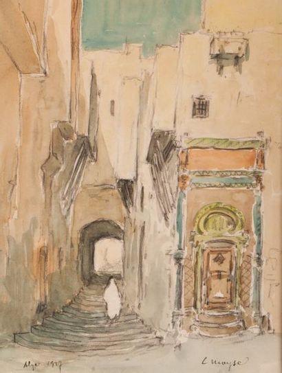 Léon MOYSE (1873 - 1955)  Une rue d'Alger...