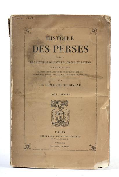 LE COMTE DE GOBINEAU, Histoire des Perses,...