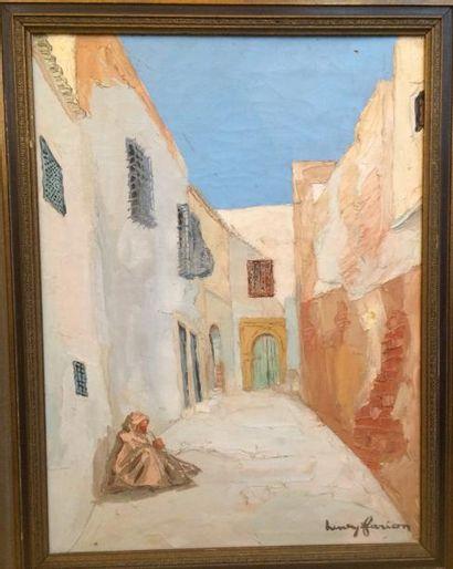 Henry FARION ( ? -1991)  Ruelle dans la Casbah...