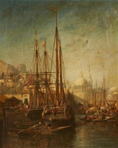 Jules NOEL ( Nancy 1810- Alger1881)  Voiliers...