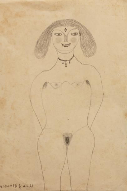 Mohamed BEN ALLAL (1924-1995)  Femme nue...