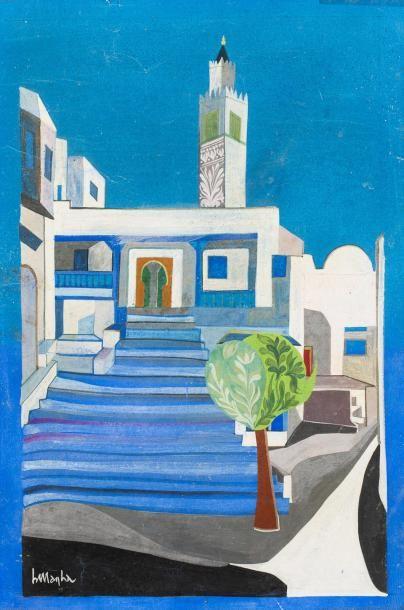 *Ali Bellagha (1924-2006)  Le café des nattes...