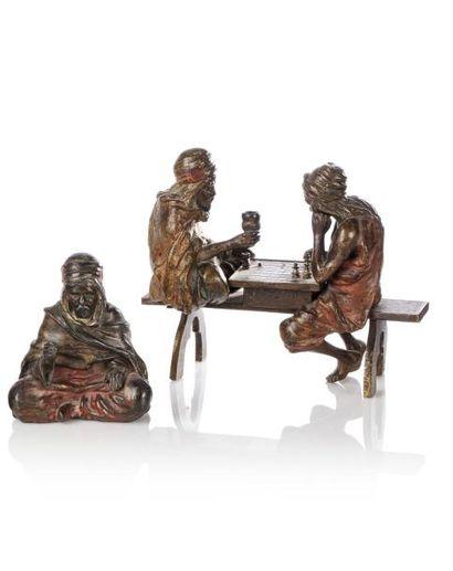 Bronze de Vienne  Les Joueurs d'échecs  Bronze...