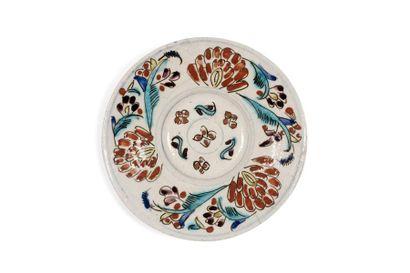 Coupelle de Kütahya  en céramique à décor...