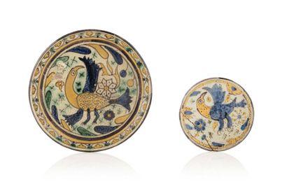 Deux plats de Chemla Al-Qallaline  en céramique...