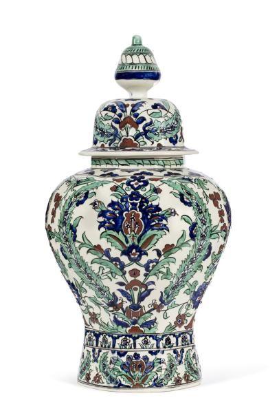 Boch Frères Keramis  Vase en céramique à...