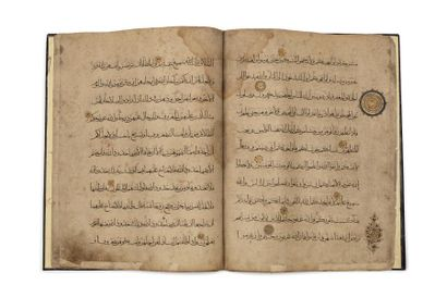 Onze feuillets de Coran  Manuscrit en arabe...