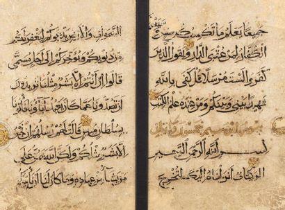 Double folio de Coran du XIIIe siècle  de...