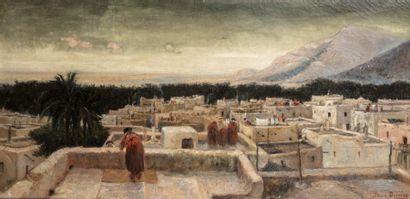 Jean DARLEY (Alger 1886-1932)   Sur les terrasses...