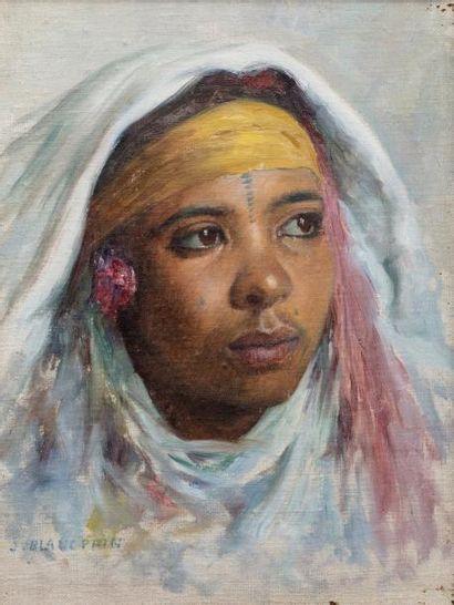 Jules BLANCPAIN (Villeret 1860-1914)  Portrait...