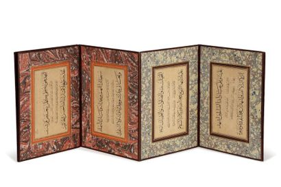Muraqqa - Album de calligraphies signé 'Ârif...