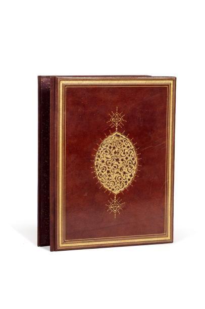 Muraqqa - Album de calligraphies signé 'Ârif Effendi (1830-1909)  composé de quatre...