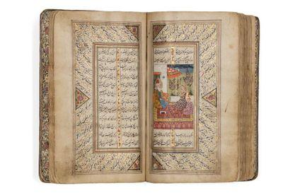 Nur al-Din Jâmi (1414-1492) - Yusuf wa Zulaykha  Manuscrit poétique en persan, calligraphié...